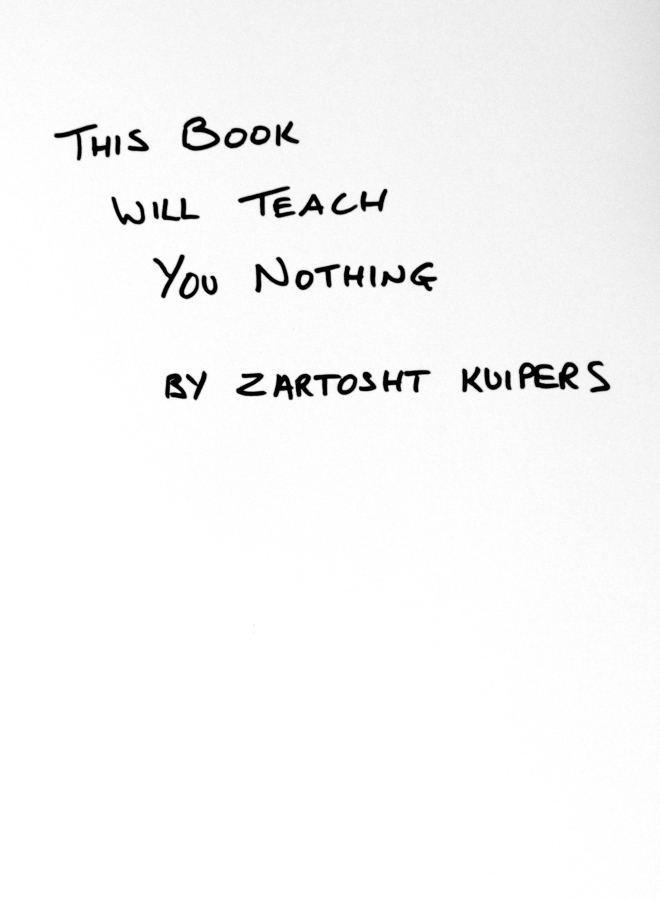 this book will teach you nothing.