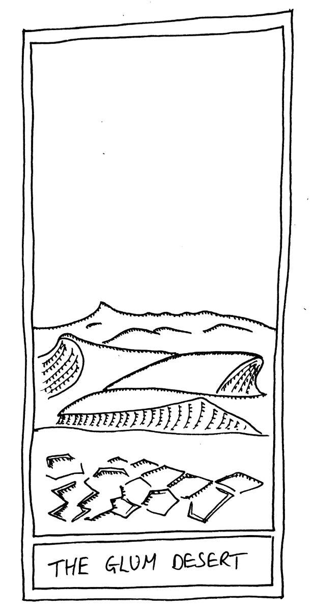 The Mislaid Deck Card 16 The Glum Desert The