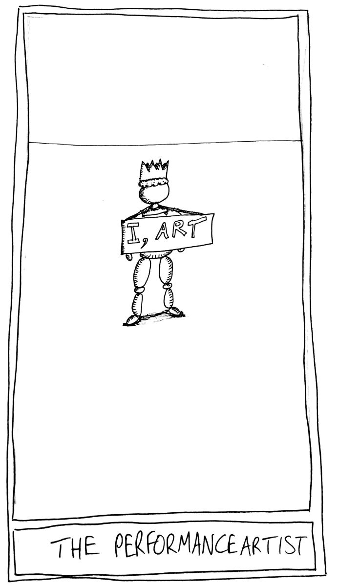 The Mislaid Deck Card 52 The Performance Artist The