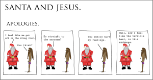 santa and jesus - apologies