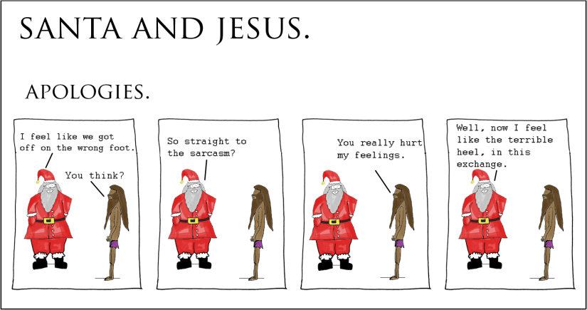 Santa and Jesus – Apologies.