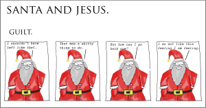 santa and jesus - guilt