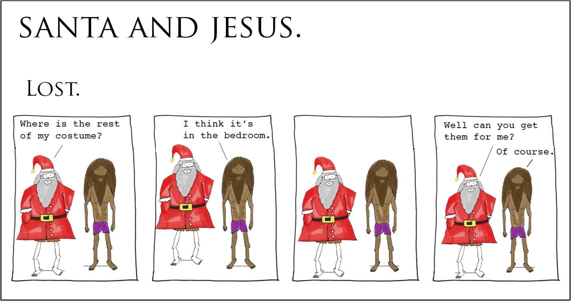 santa and jesus - lost
