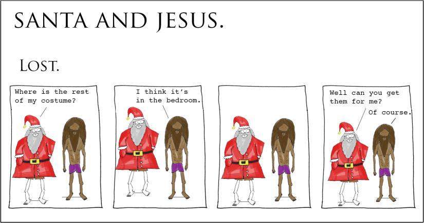 Santa and Jesus –Lost.