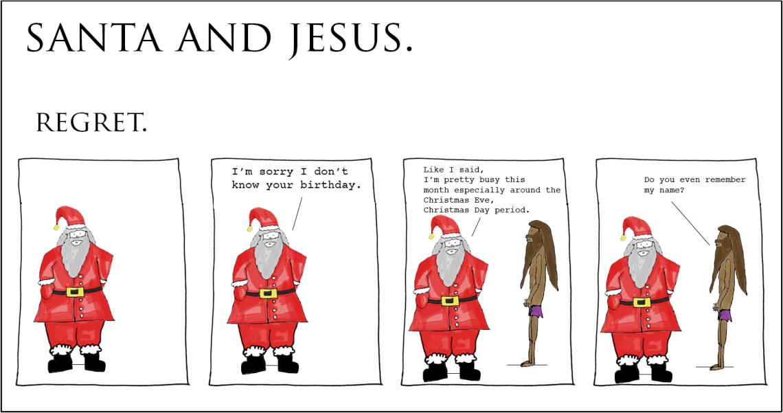 santa and jesus - regret copy