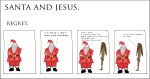 santa and jesus - regret copy
